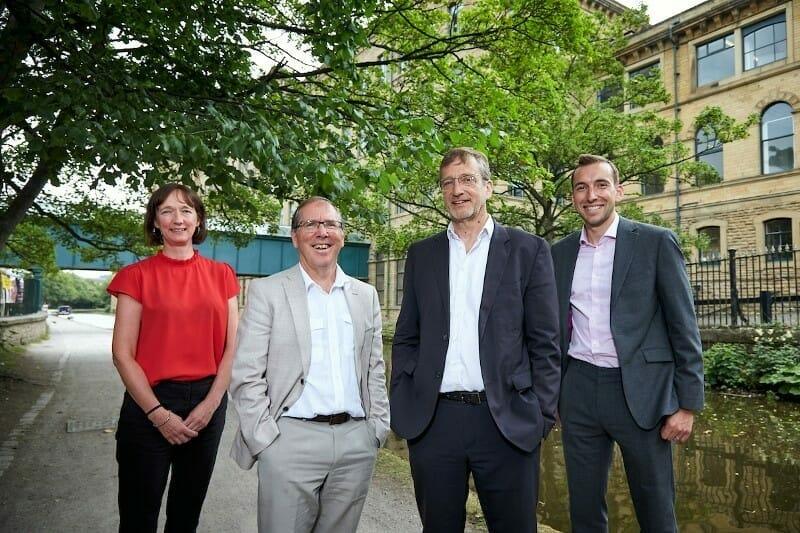 Pictured (L-R): Sally Abbatt, Bob Gomersall and John Eaglesham of ADI with Jonathan Sharp of Mercia